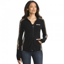 Port Authority Ladies Camouflage Microfleece Full-Zip Jacket
